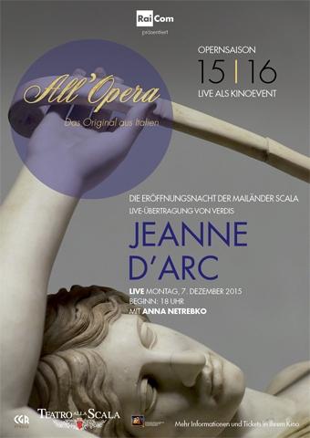 All Opera 2015/2016: Jeanne d'Arc (Verdi) - La Scala (Poster)