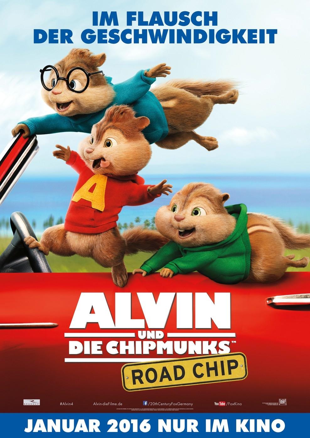 Alvin und die Chipmunks: Road Chip (Poster)