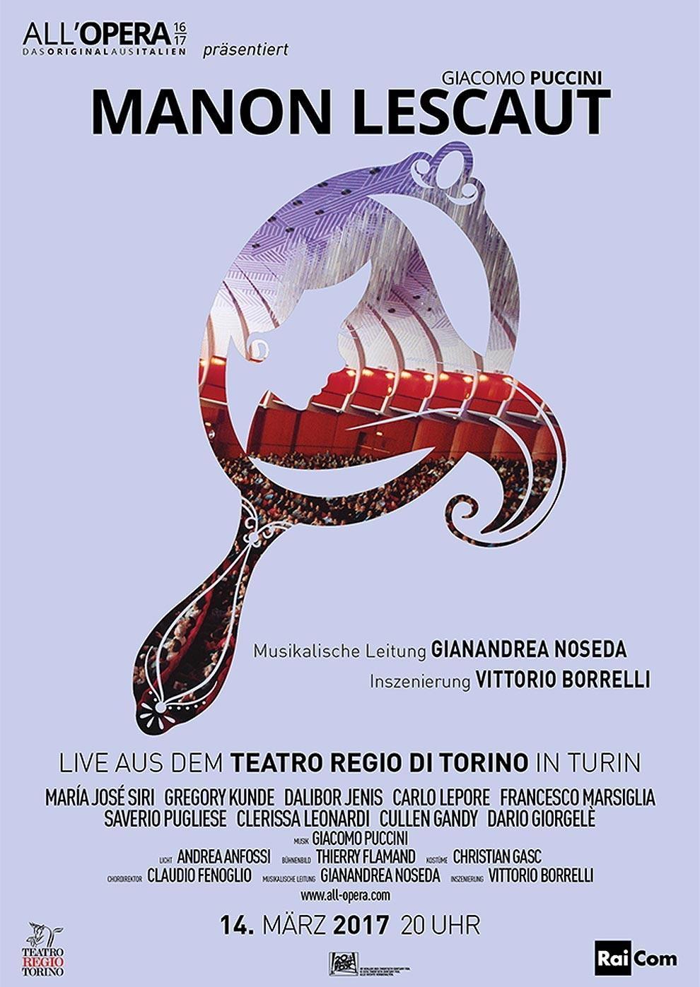 All Opera 16/17: Manon Lescaut (Aufzeichnung) (Poster)