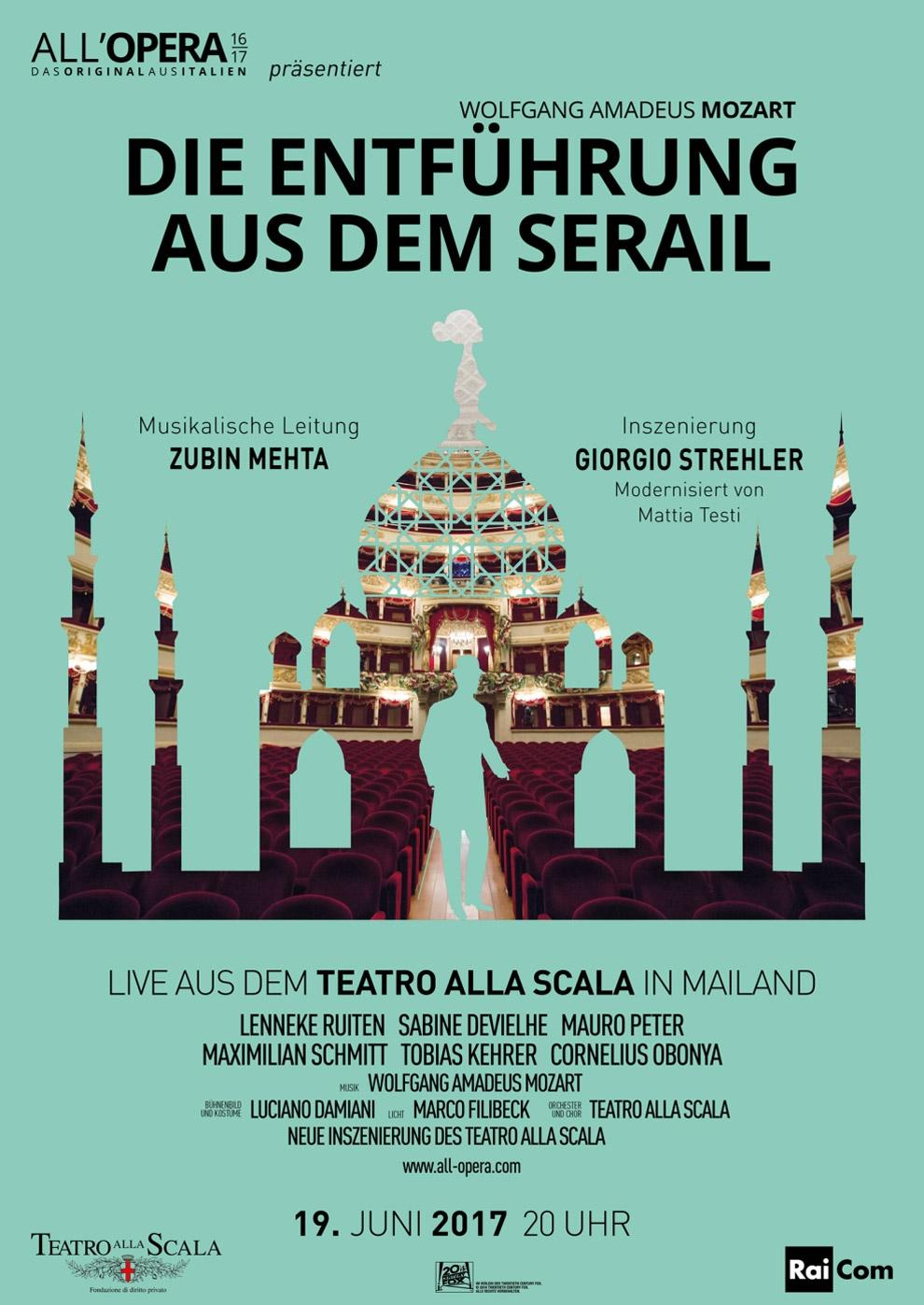 All Opera 16/17: Die Entführung aus dem Serail (Aufzeichnung) (Poster)