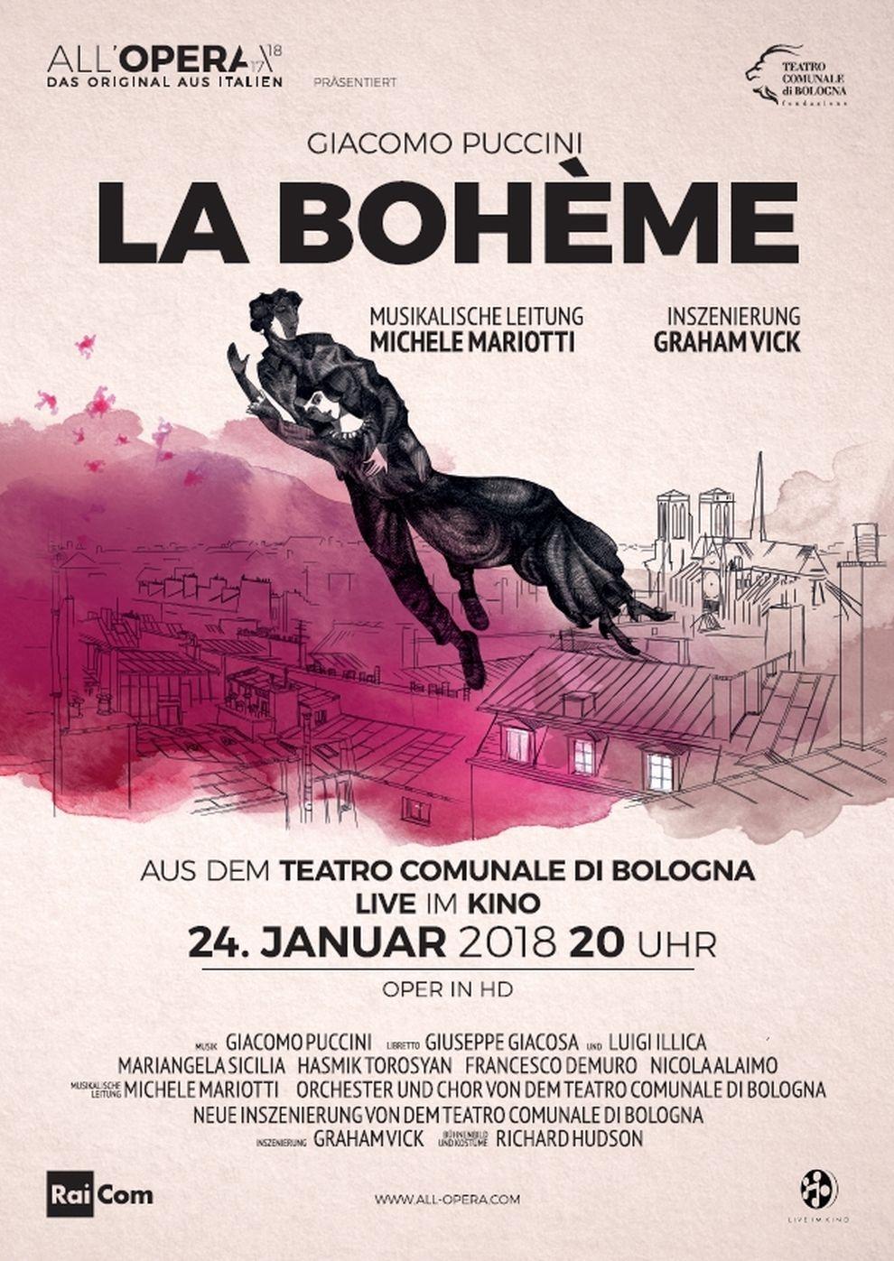 All´Opera Saison 2017/18: La Bohème (Poster)