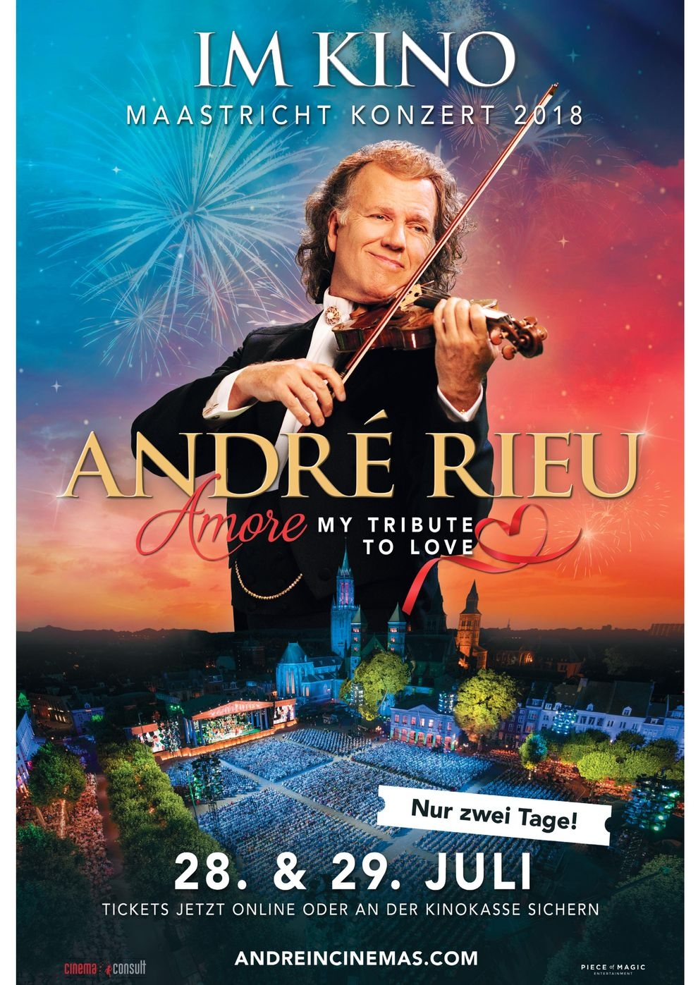 André Rieu - Maastricht-Konzert 2018: Amore - My Tribute to Love (Poster)