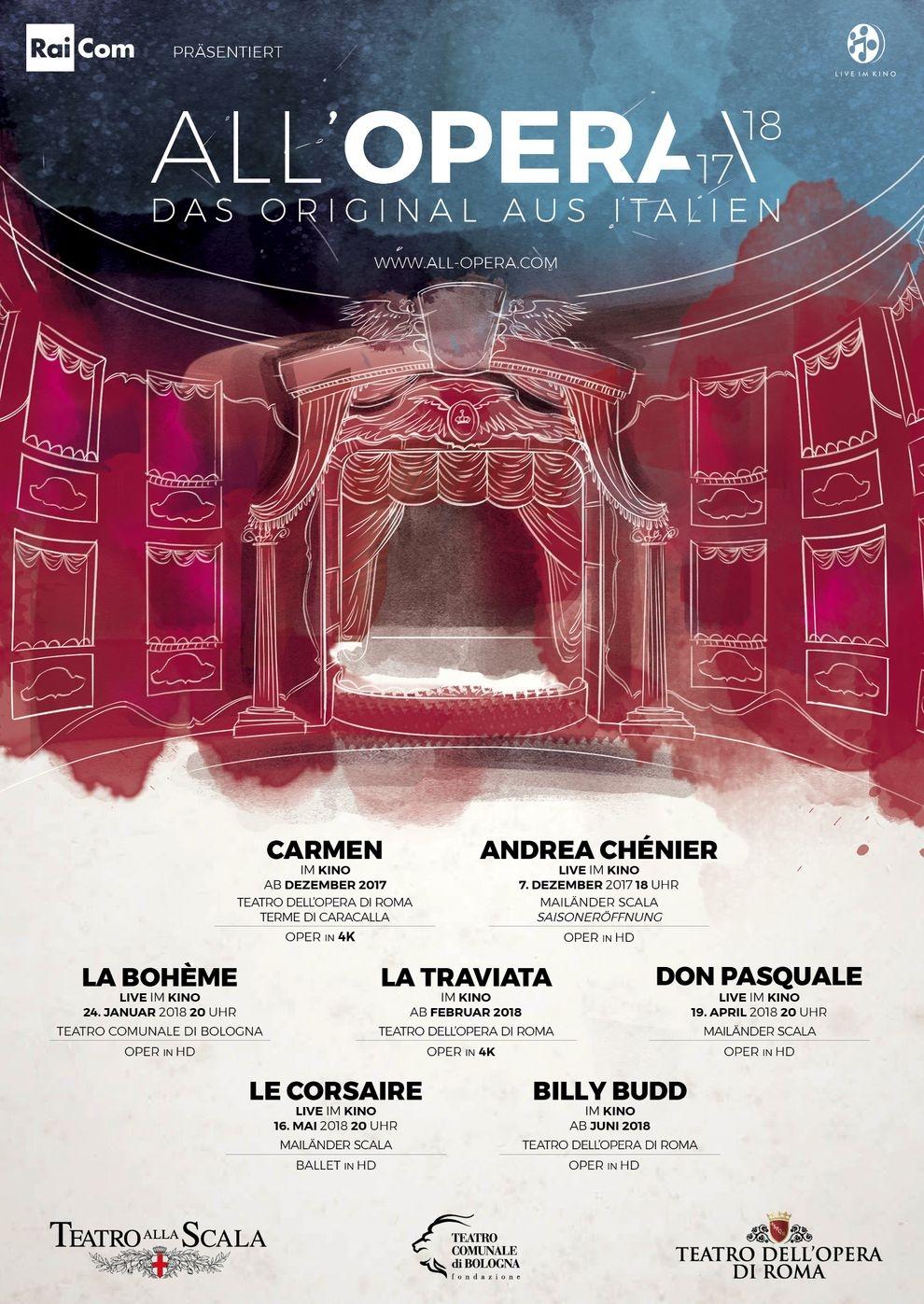 All´Opera Saison 2017/18: Le Corsaire (Poster)
