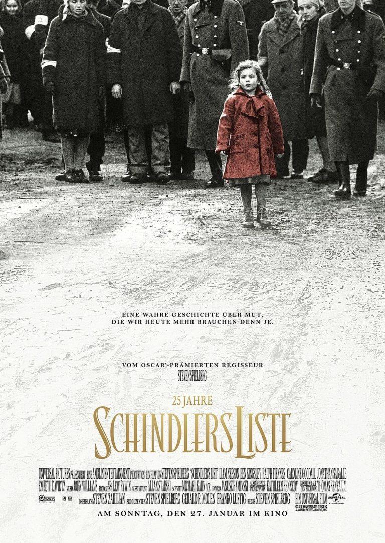 25 Jahre: Schindlers Liste (Holocaust Gedenktag) (1993) (Poster)