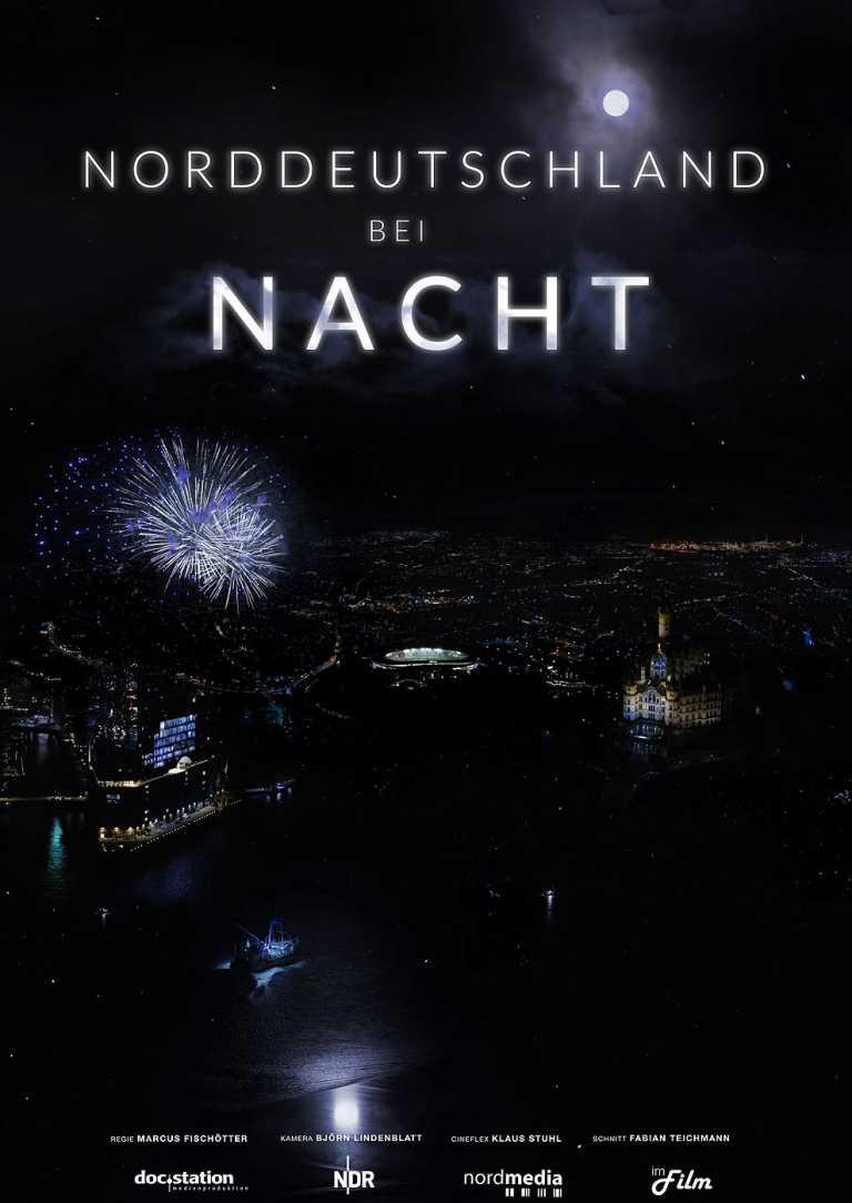Norddeutschland bei Nacht (Poster)