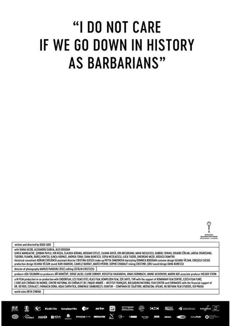 Mir ist es egal, wenn wir als Barbaren in die Geschichte eingehen (Poster)