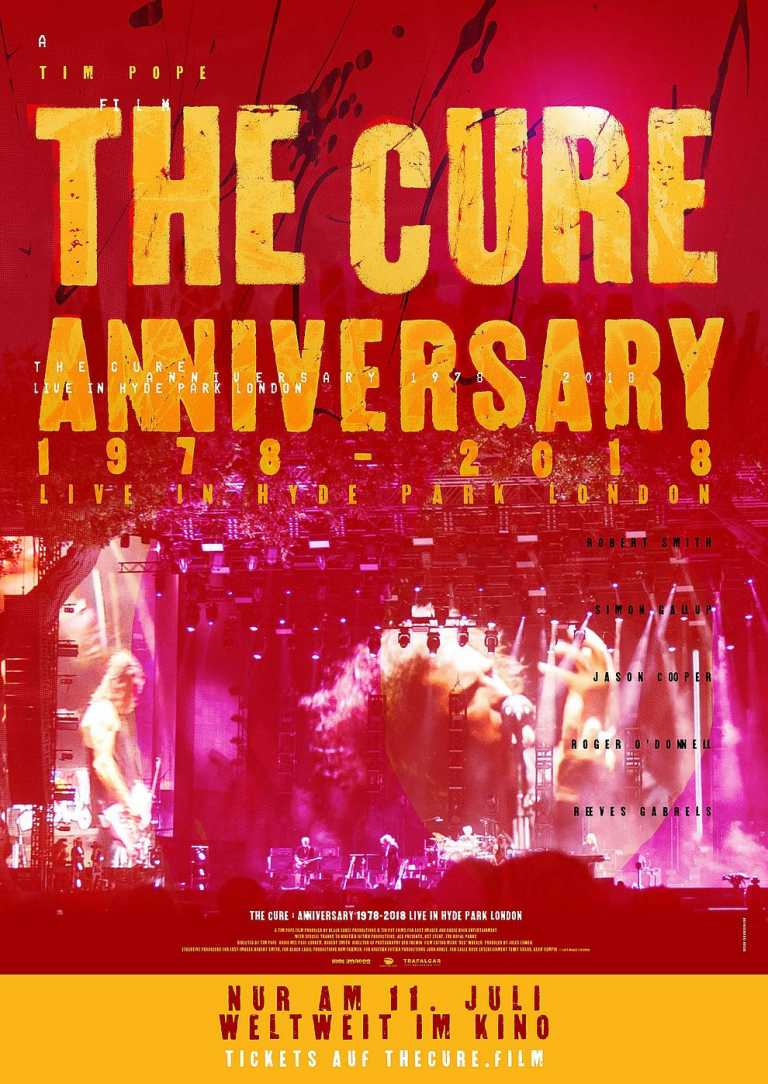 The Cure - Anniversary 1978 - 2018 - Live in Hyde Park London (Poster)