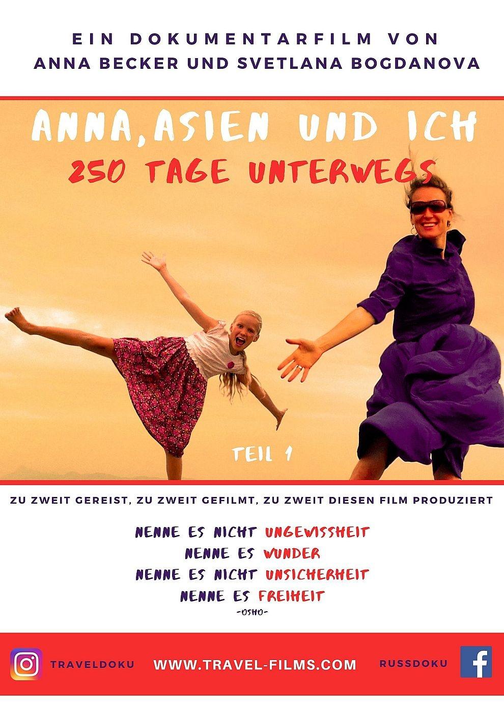 Anna, Asien und Ich. 250 Tage unterwegs (Poster)
