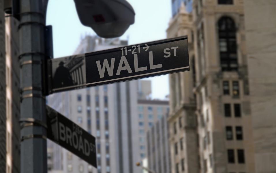 Straßenschild Wall Street