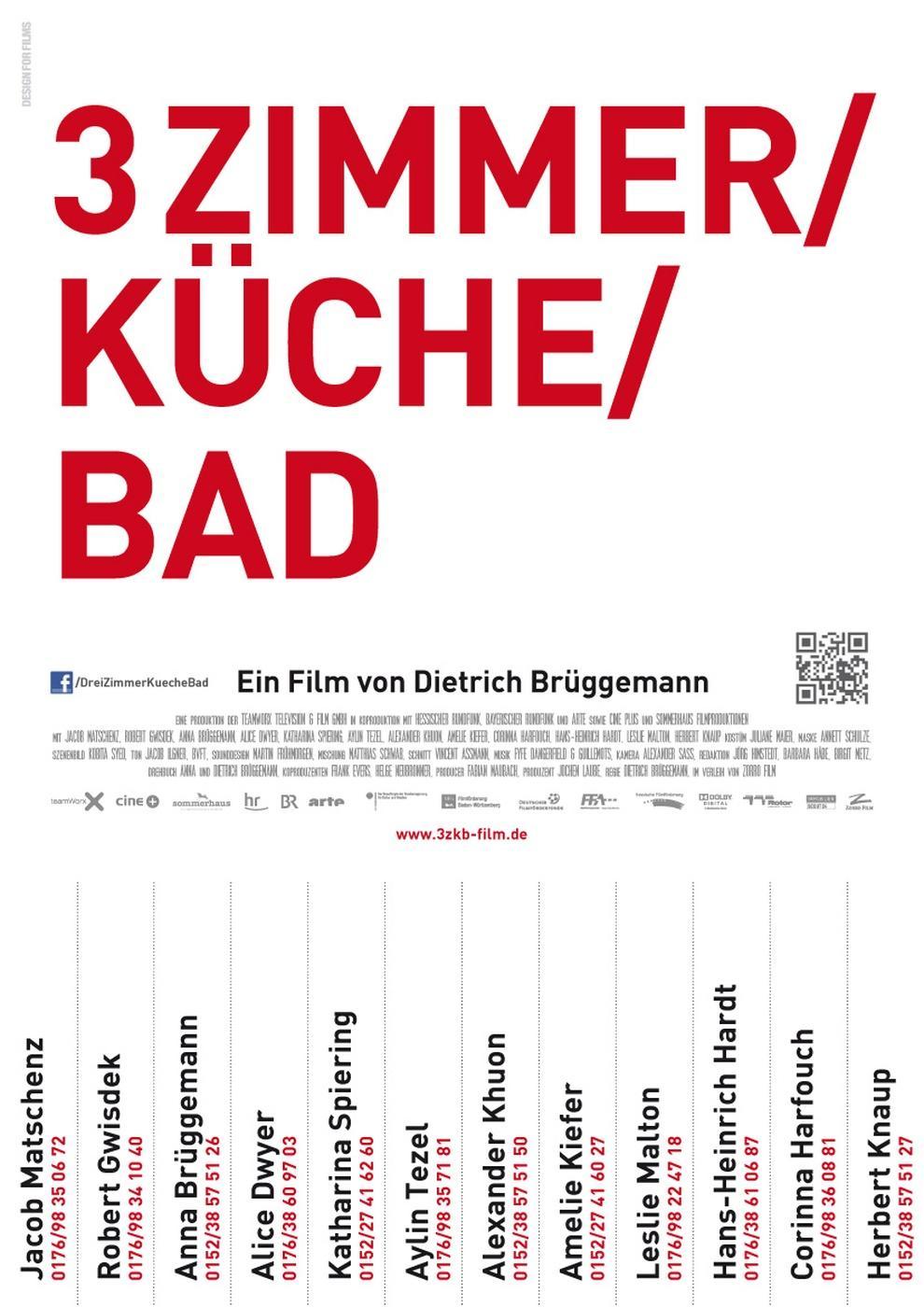 3 Zimmer/ Küche/ Bad (Poster)