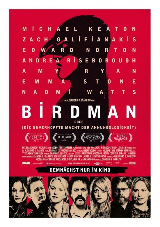Birdman oder (Die unverhoffte Macht der Ahnungslosigkeit) (Poster)