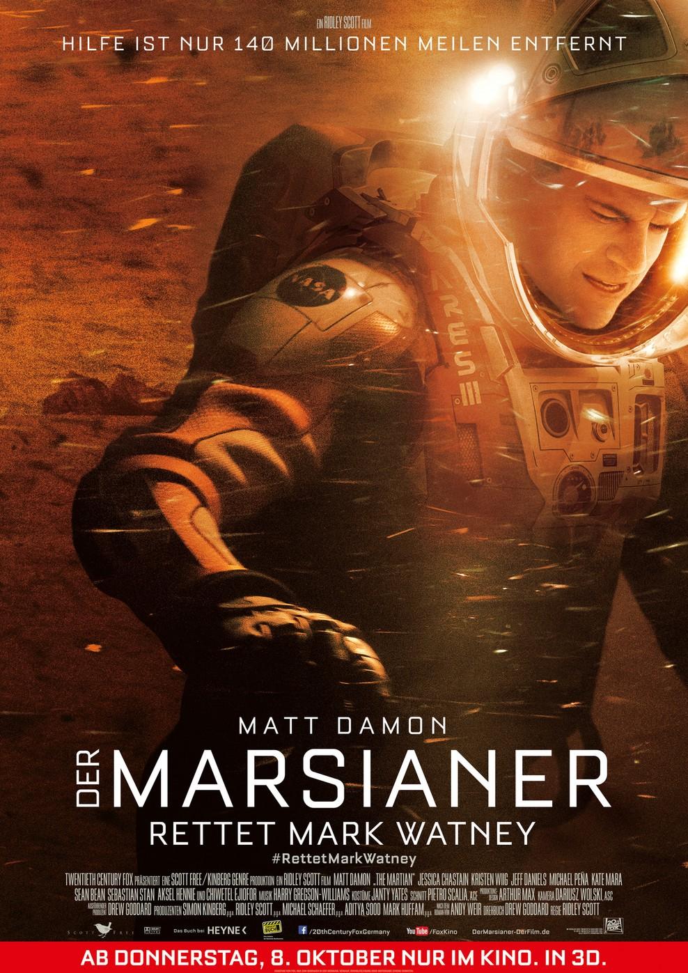 Der Marsianer - Rettet Mark Watney (Poster)