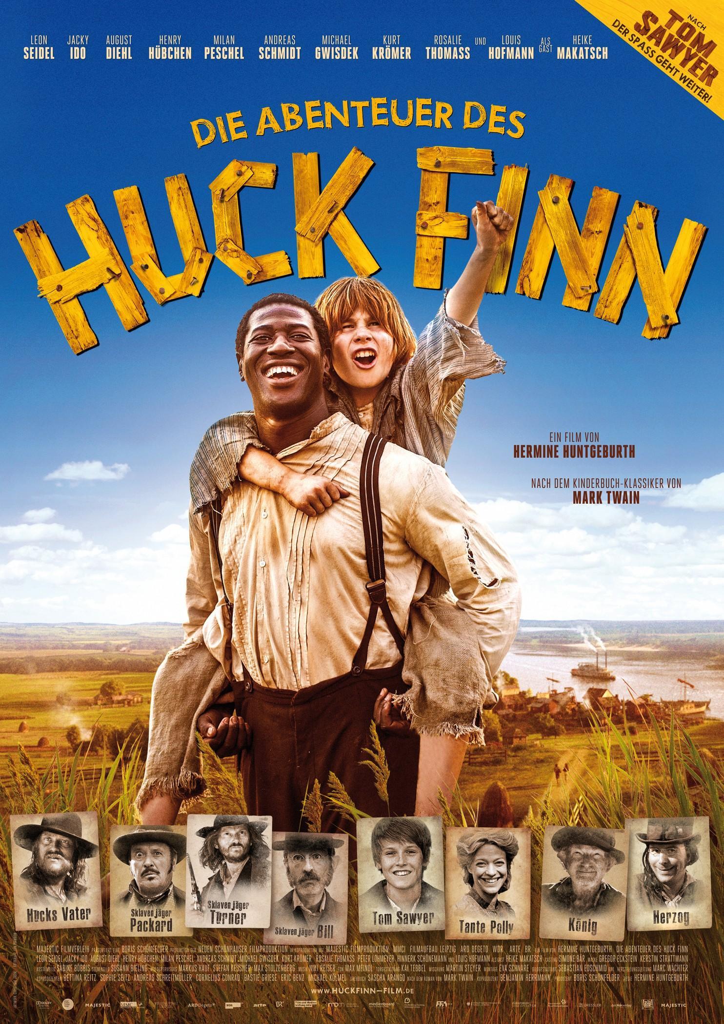Die Abenteuer des Huck Finn (Poster)