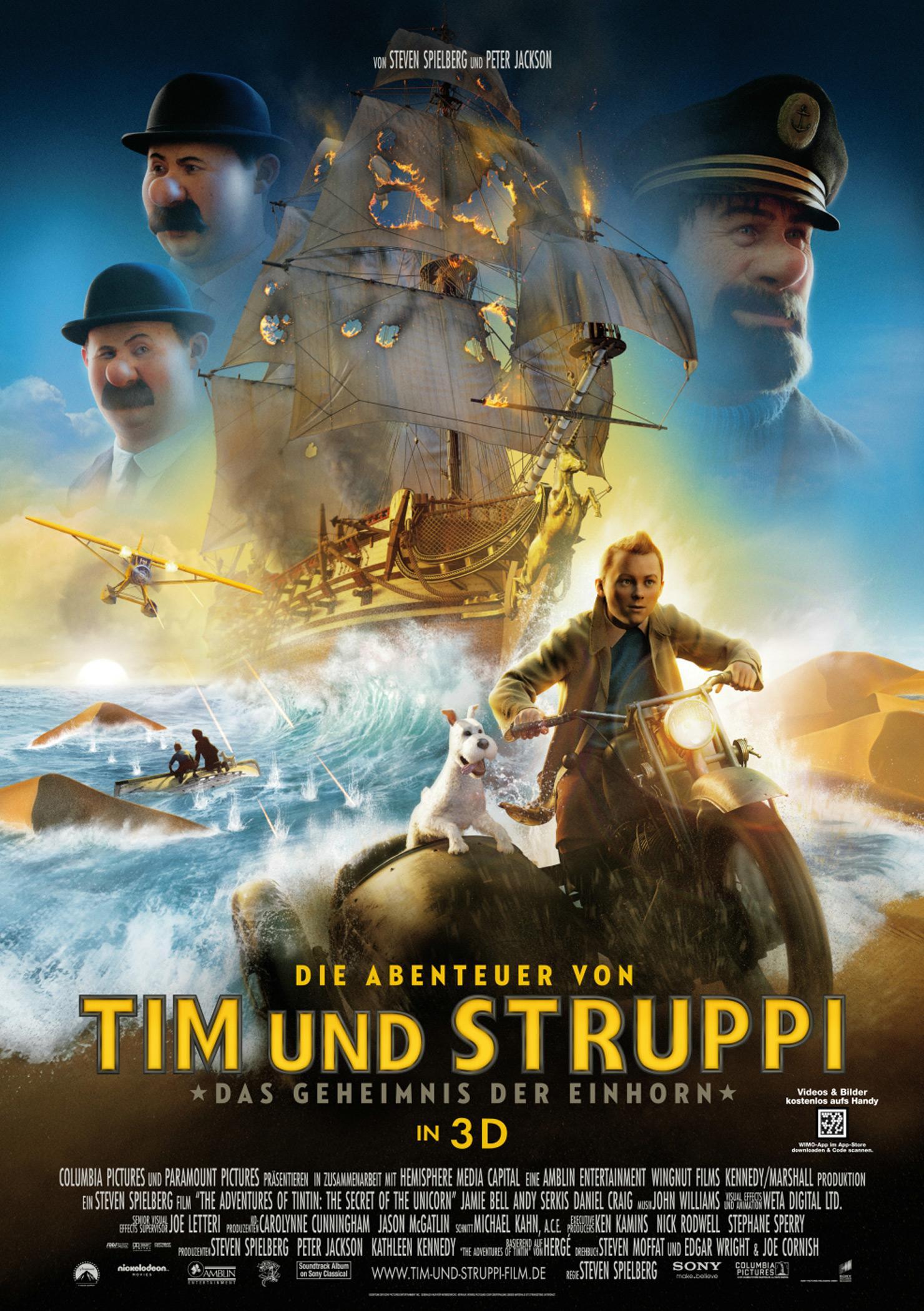 Die Abenteuer von Tim und Struppi - Das Geheimnis der Einhorn (Poster)