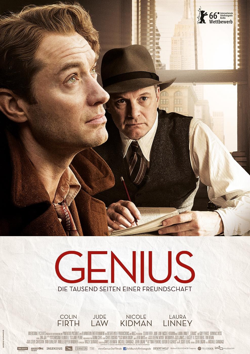 Genius - Die tausend Seiten einer Freundschaft (Poster)