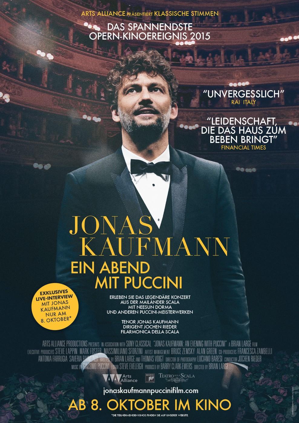 Jonas Kaufmann: Ein Abend mit Puccini (Poster)