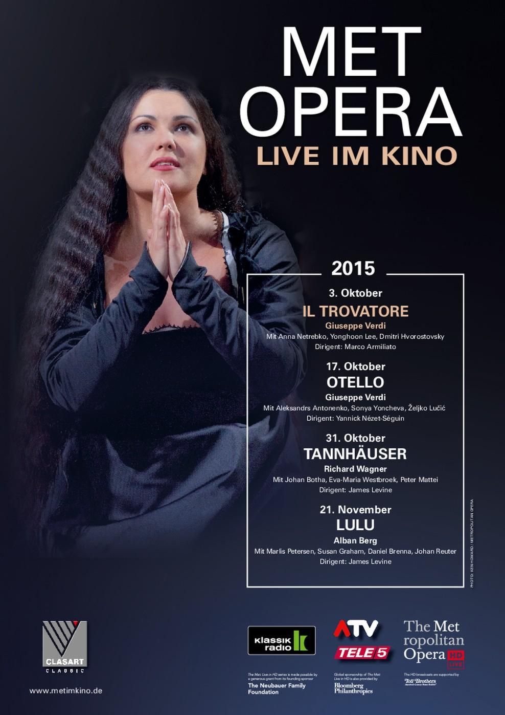 Met Opera 2015/16: Il Trovatore (Verdi) (Poster)