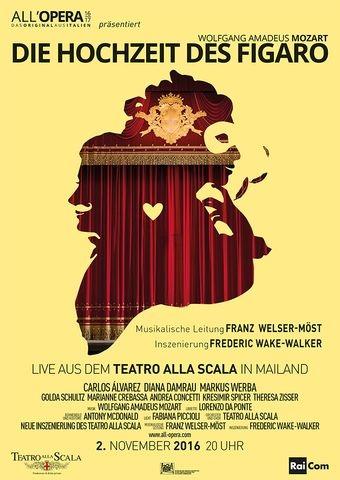 All Opera 16/17: Die Hochzeit des Figaro (Aufzeichnung) (Poster)