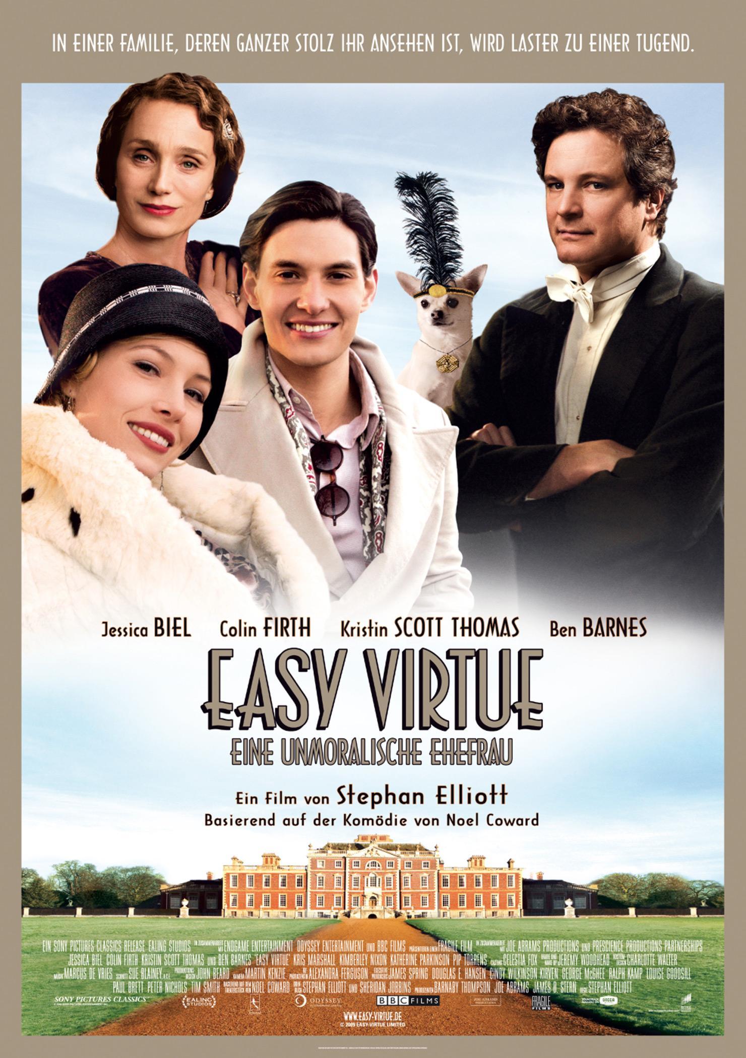 Easy Virtue - Eine unmoralische Ehefrau (Poster)