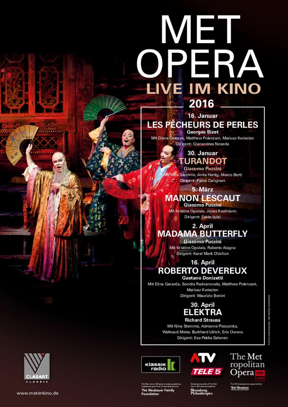 Met Opera 2015/16: Turandot (Puccini) (Poster)