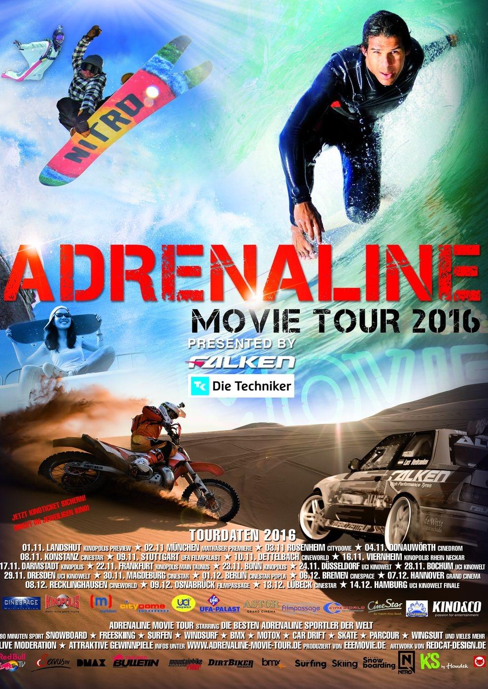 Adrenaline Movie Tour 2016 (Poster)