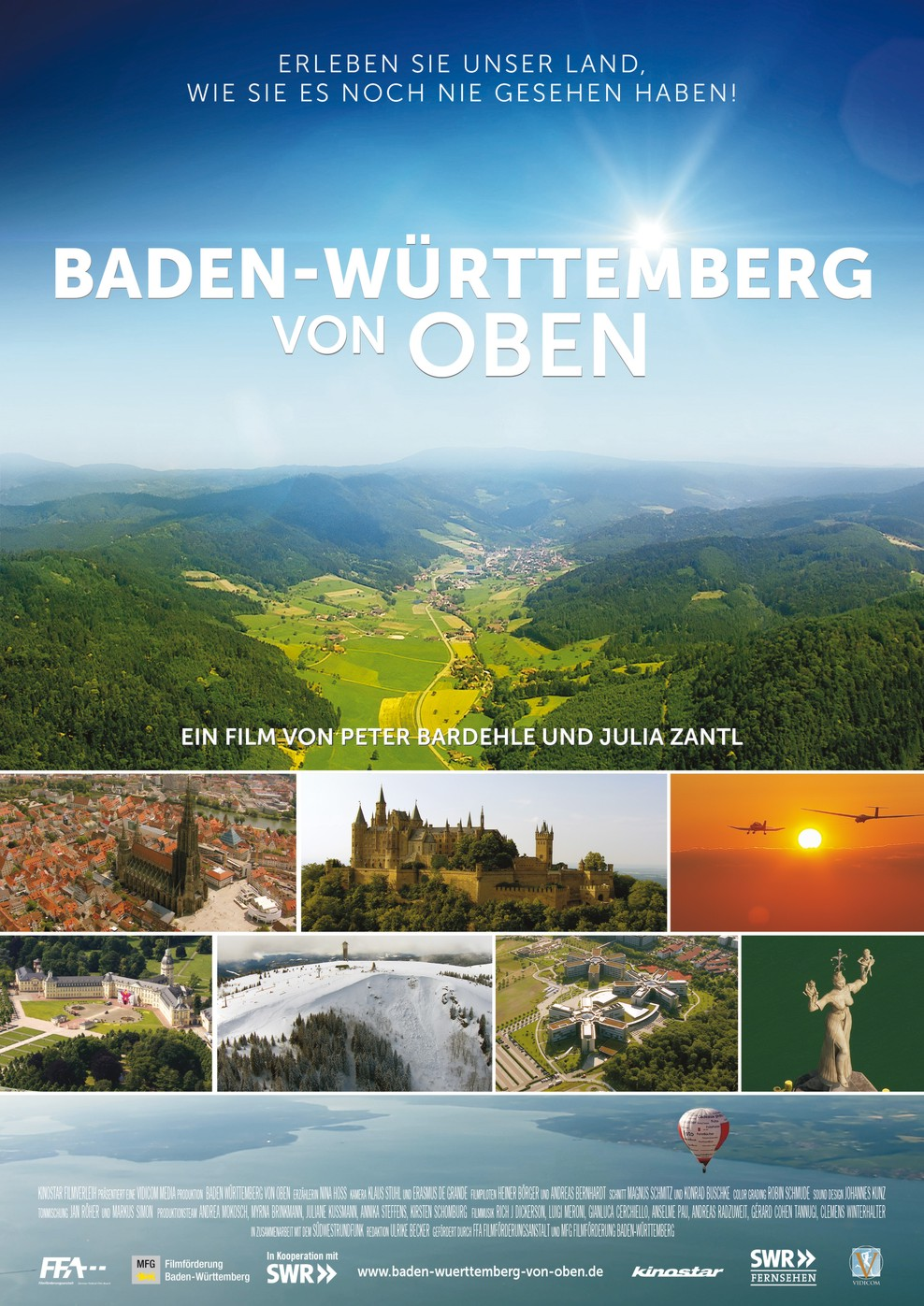 Baden-Württemberg von oben (Poster)