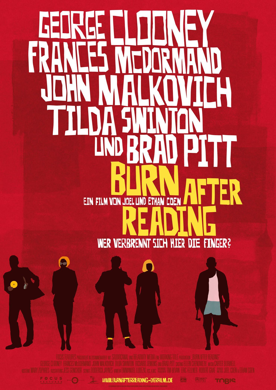 Burn After Reading - Wer verbrennt sich hier die Finger? (Poster)