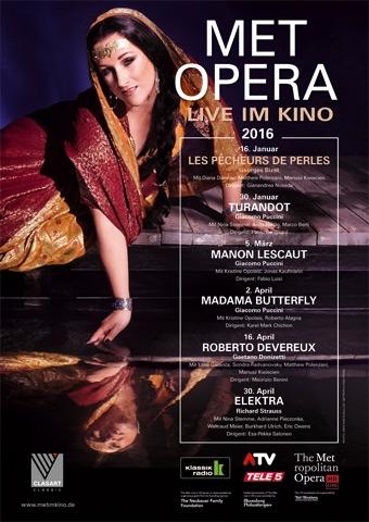 Met Opera 2015/16: Die Perlenfischer - Les pêcheurs de perles (Bizet) (Poster)
