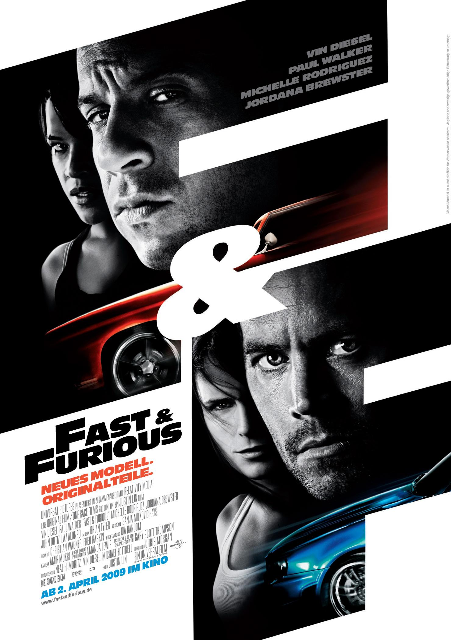 Fast & Furious - Neues Modell. Originalteile. (Poster)