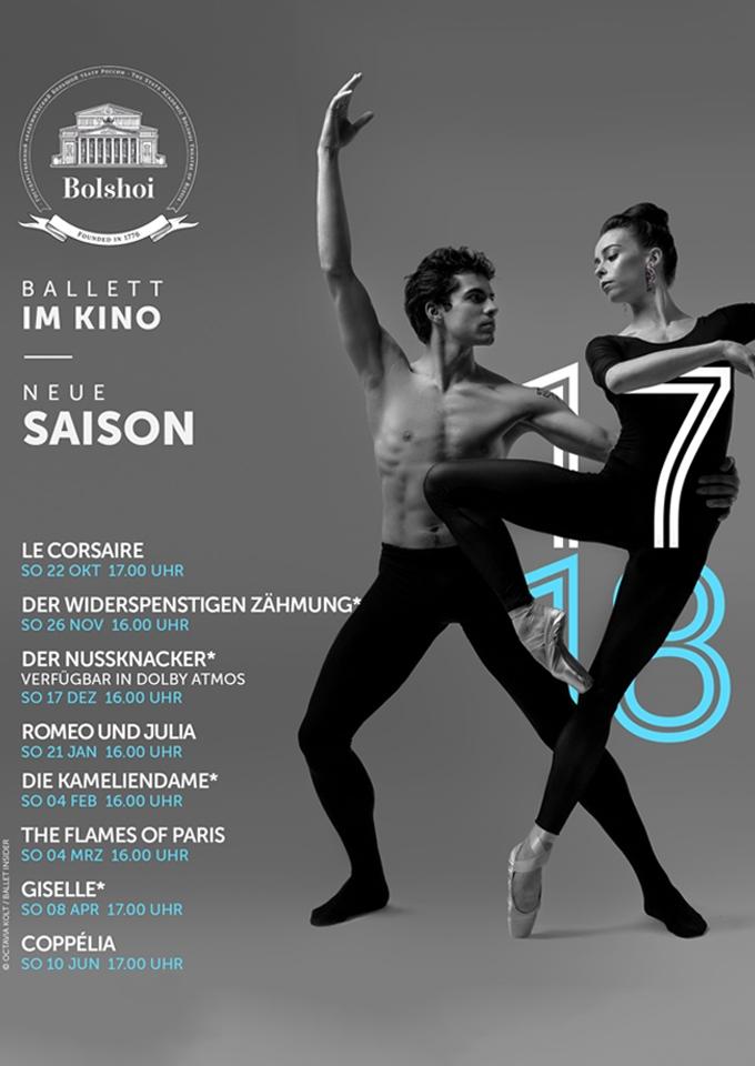 Bolshoi Ballett 2017/18: Der Widerspenstigen Zähmung (Poster)