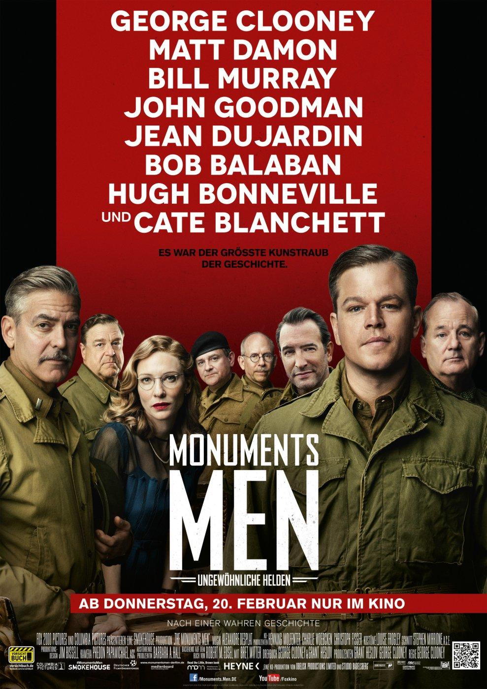Monuments Men - Ungewöhnliche Helden (Poster)
