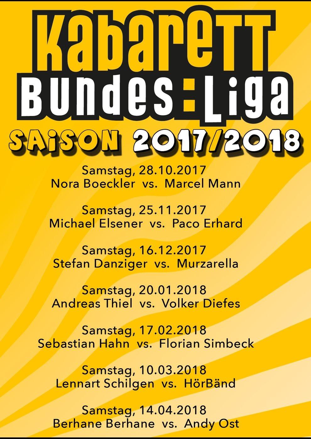 Kabarett Bundesliga 2017/2018 (Poster)