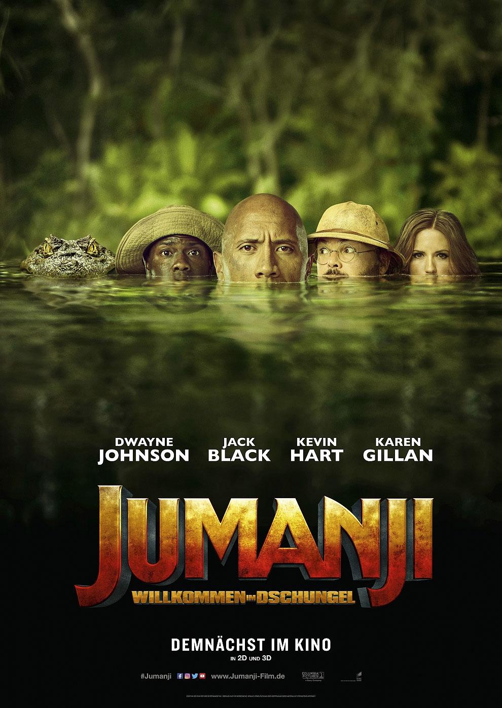 Jumanji: Willkommen im Dschungel (Poster)