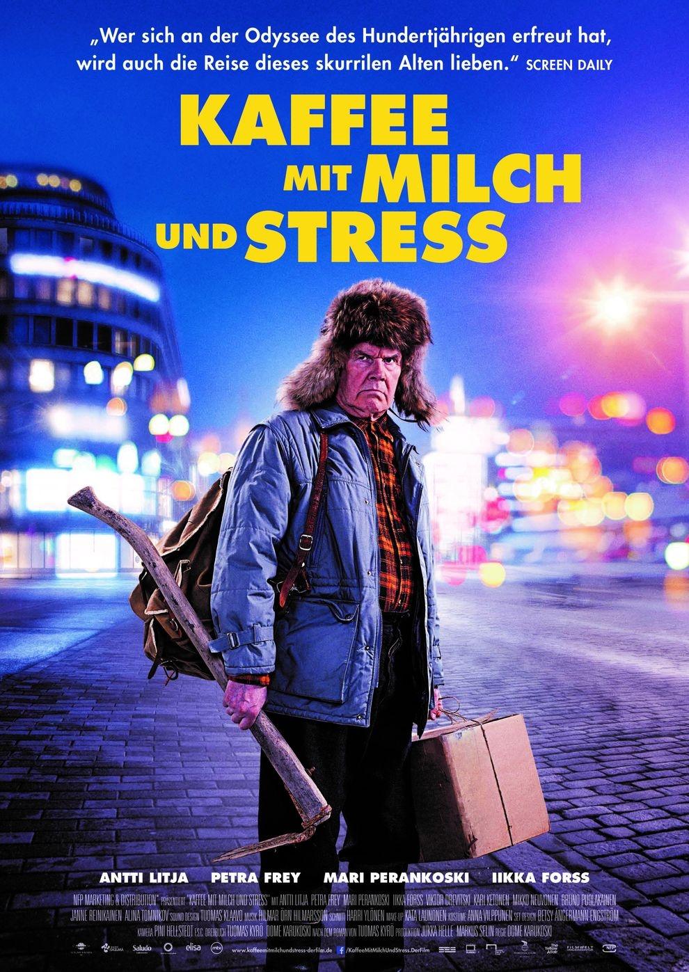 Kaffee mit Milch und Stress (Poster)