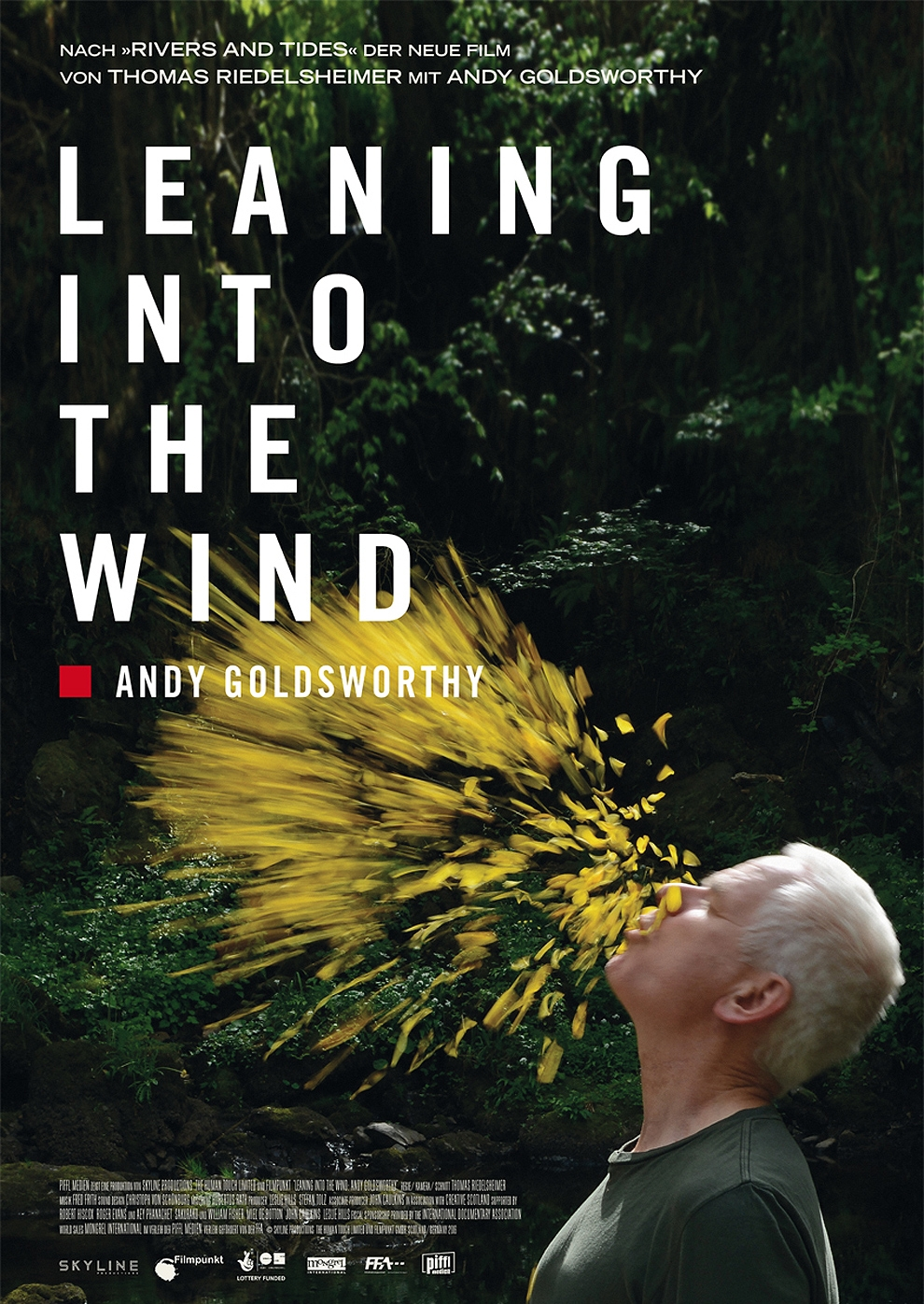 Leaning into the Wind - Andy Goldsworthy (Poster)
