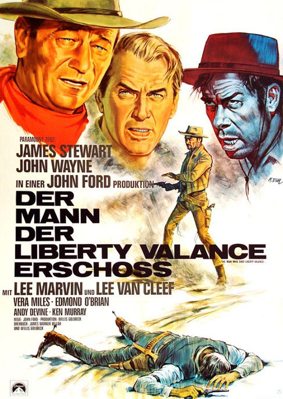 Der Mann, der Liberty Valance erschoß (Poster)
