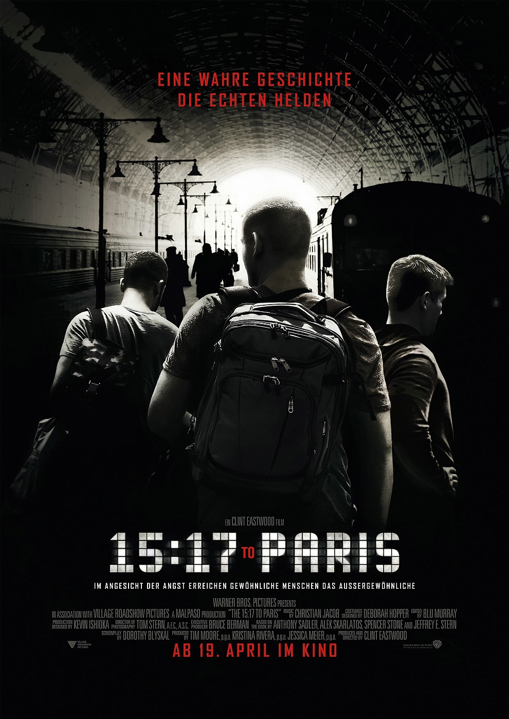 15:17 to Paris (Poster)