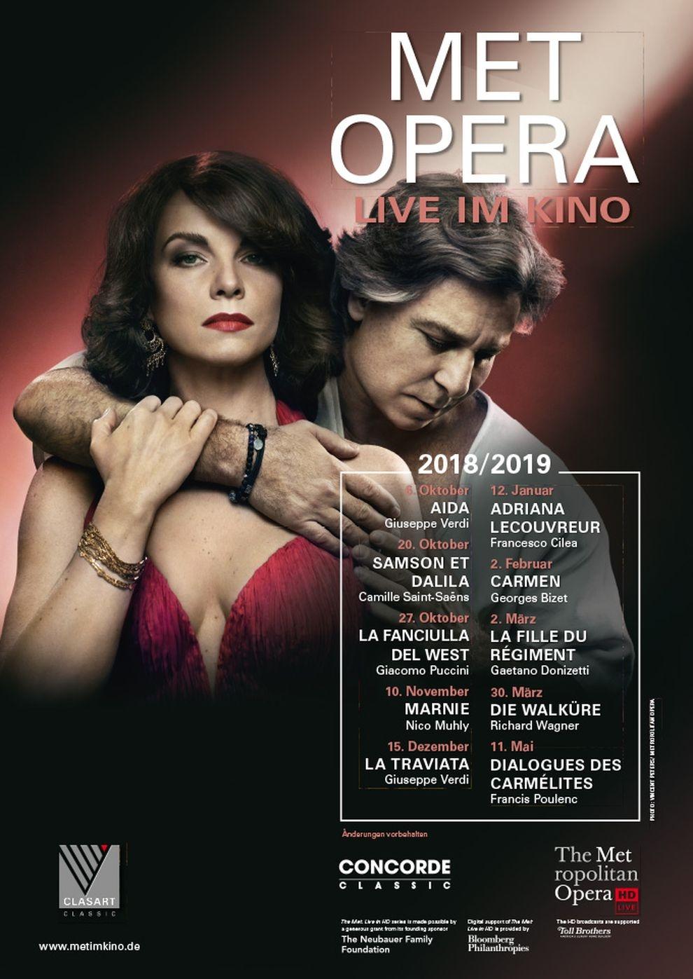 Met Opera 2018/19: Adriana LeCouvreu (Cilea) (Poster)