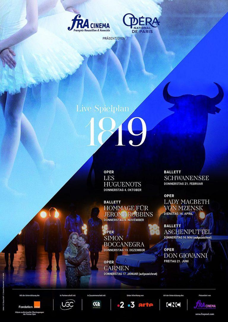 Opéra national de Paris 2018/19: Hommage für Jerome Robbins (Poster)