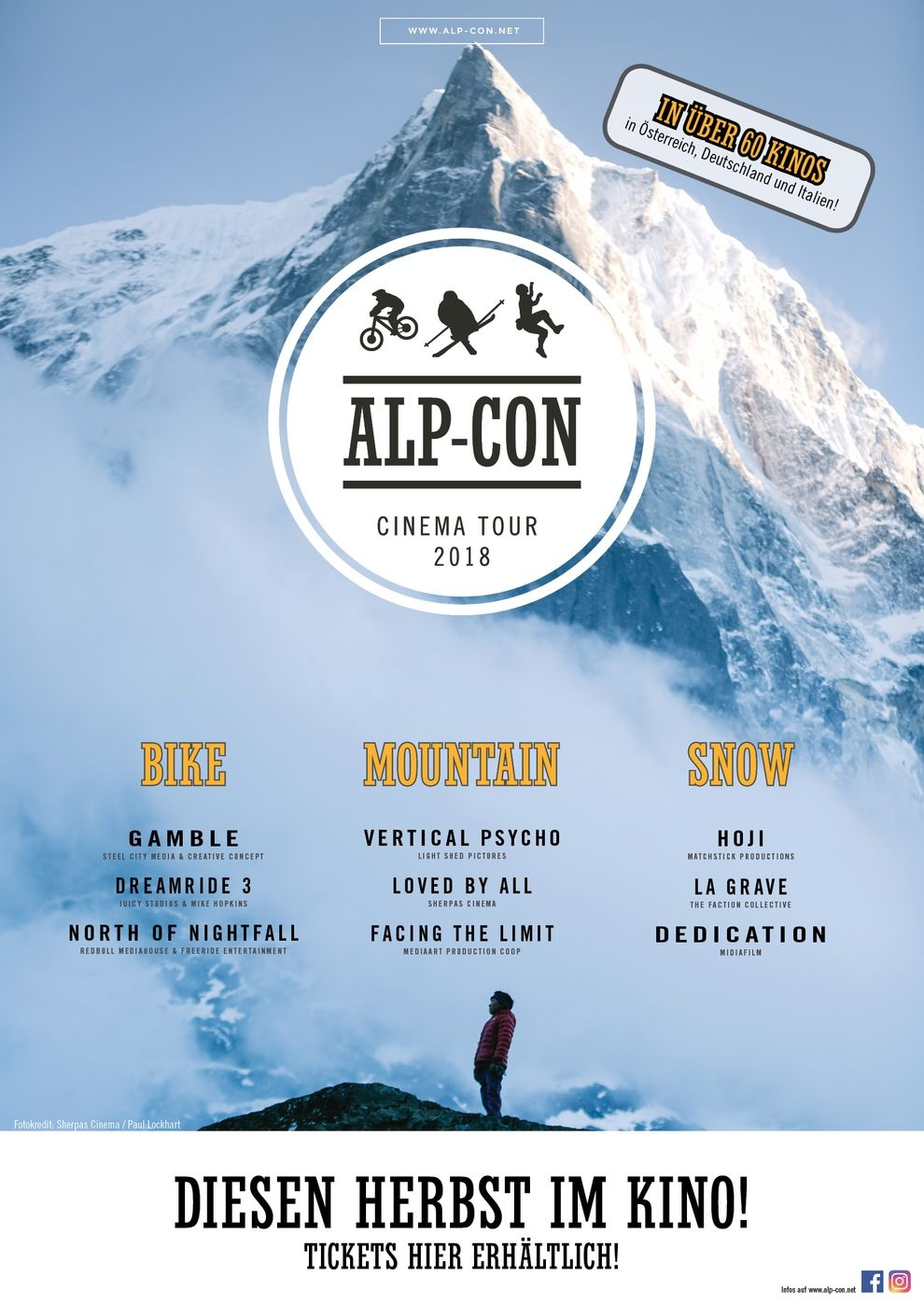 Alp-Con CinemaTour 2018: MOUNTAIN (Poster)