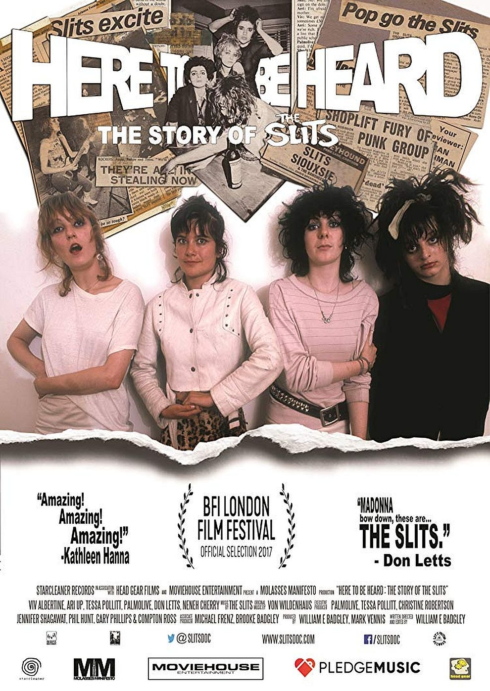 Here to Be Heard: The Story of the Slits (Poster)