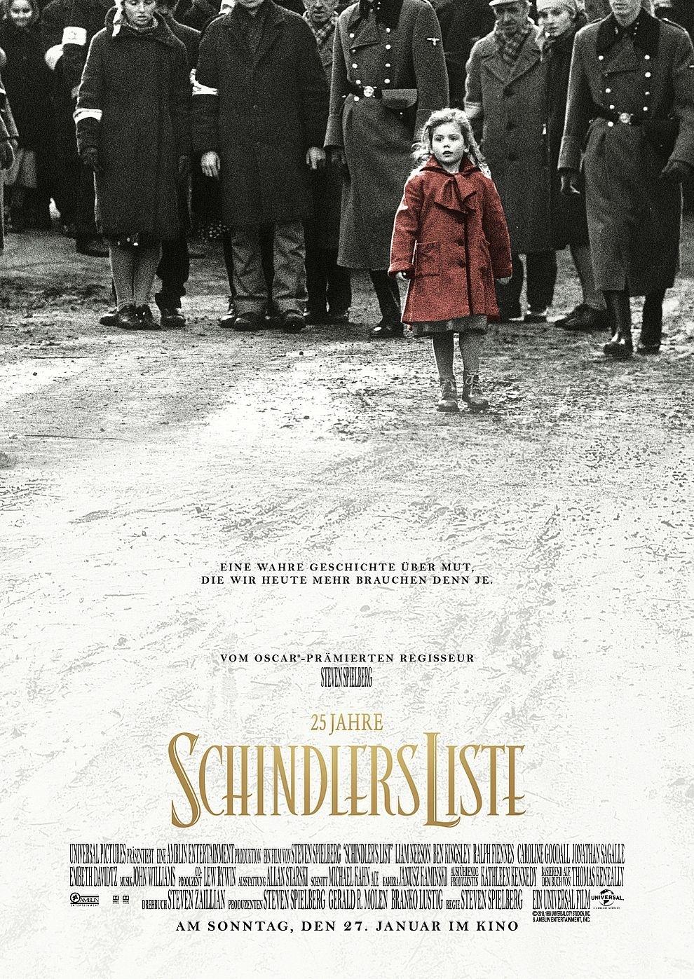 25 Jahre: Schindlers Liste (Holocaust Gedenktag) (Poster)