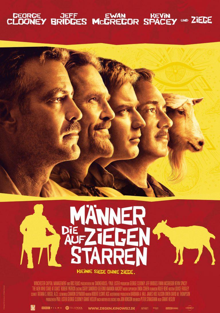 Männer die auf Ziegen starren (Poster)