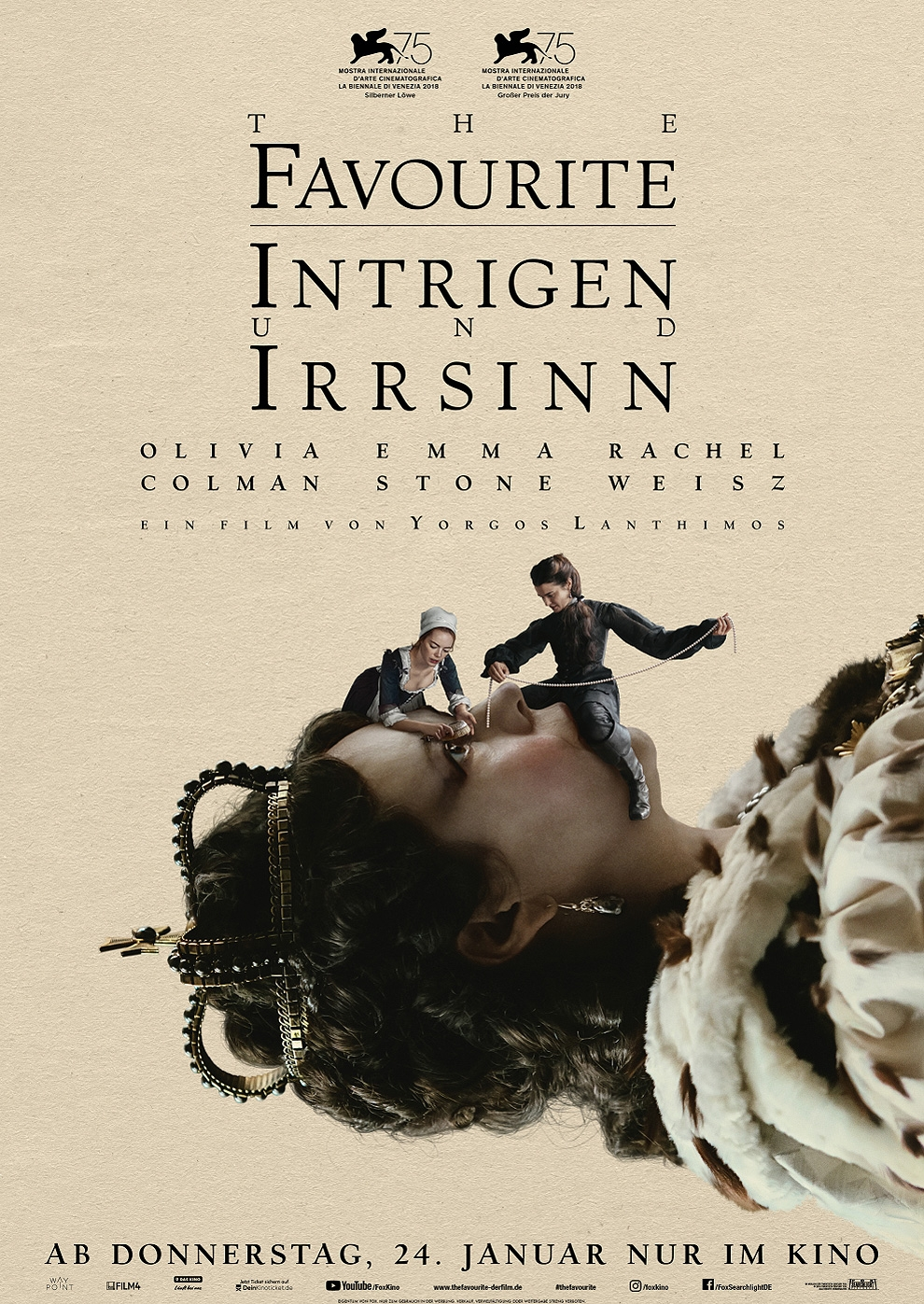 The Favourite - Intrigen und Irrsinn (Poster)