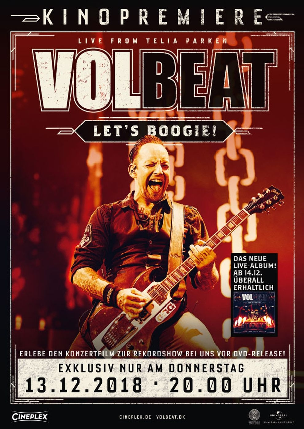 VOLBEAT-Let's Boogie! Live from Telia Parken (Poster)