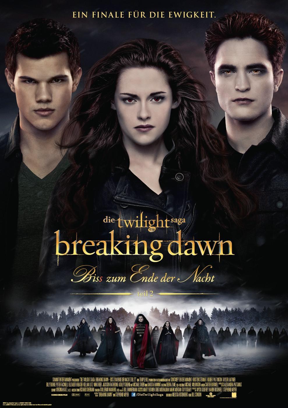 Breaking Dawn - Bis(s) zum Ende der Nacht Teil 2 (Poster)
