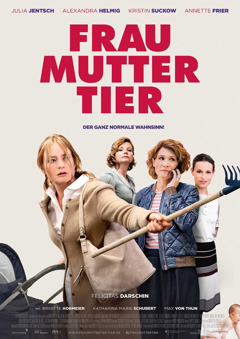 Frau Mutter Tier (Poster)