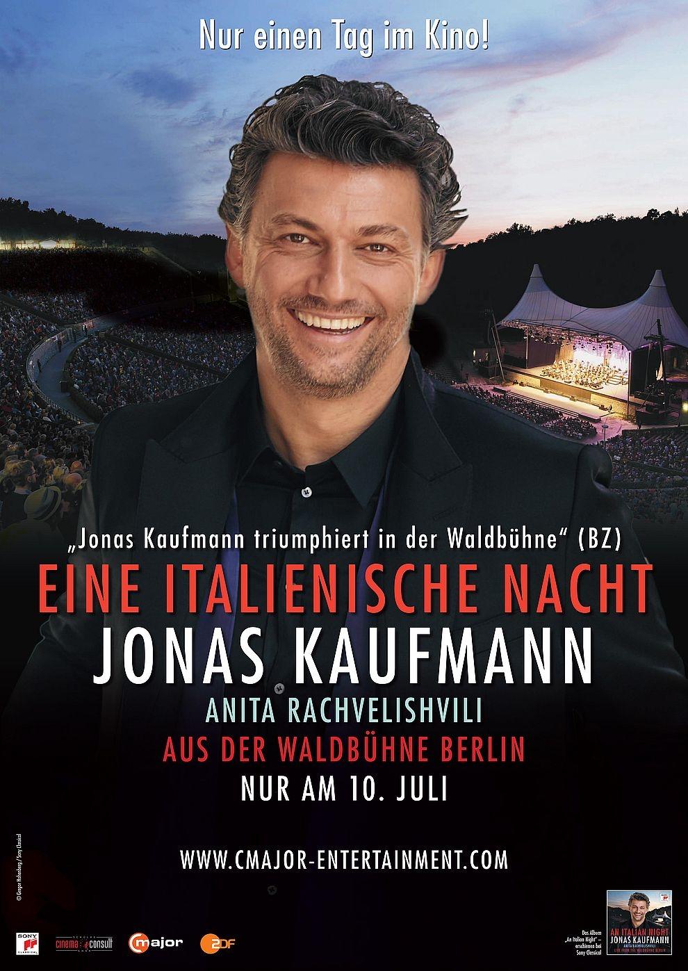 Eine italienische Nacht: Jonas Kaufmann aus der Waldbühne Berlin 2018 (Poster)