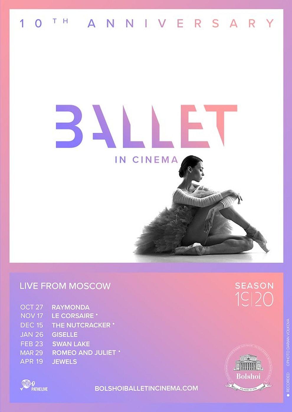 Bolshoi Ballett 2019/ 20: Schwanensee (Poster)