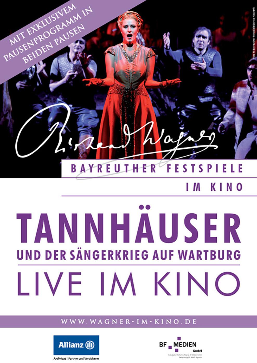 Bayreuther Festspiele 2014 Live: Tannhäuser und der Sängerkrieg auf Wartburg (Poster)